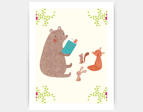 Summer Storytime Art Print by Emma Talbot - Large