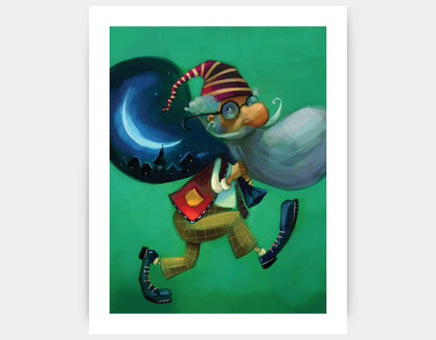 The Magical Bag Art Print by Marcin Piwowarski - Large