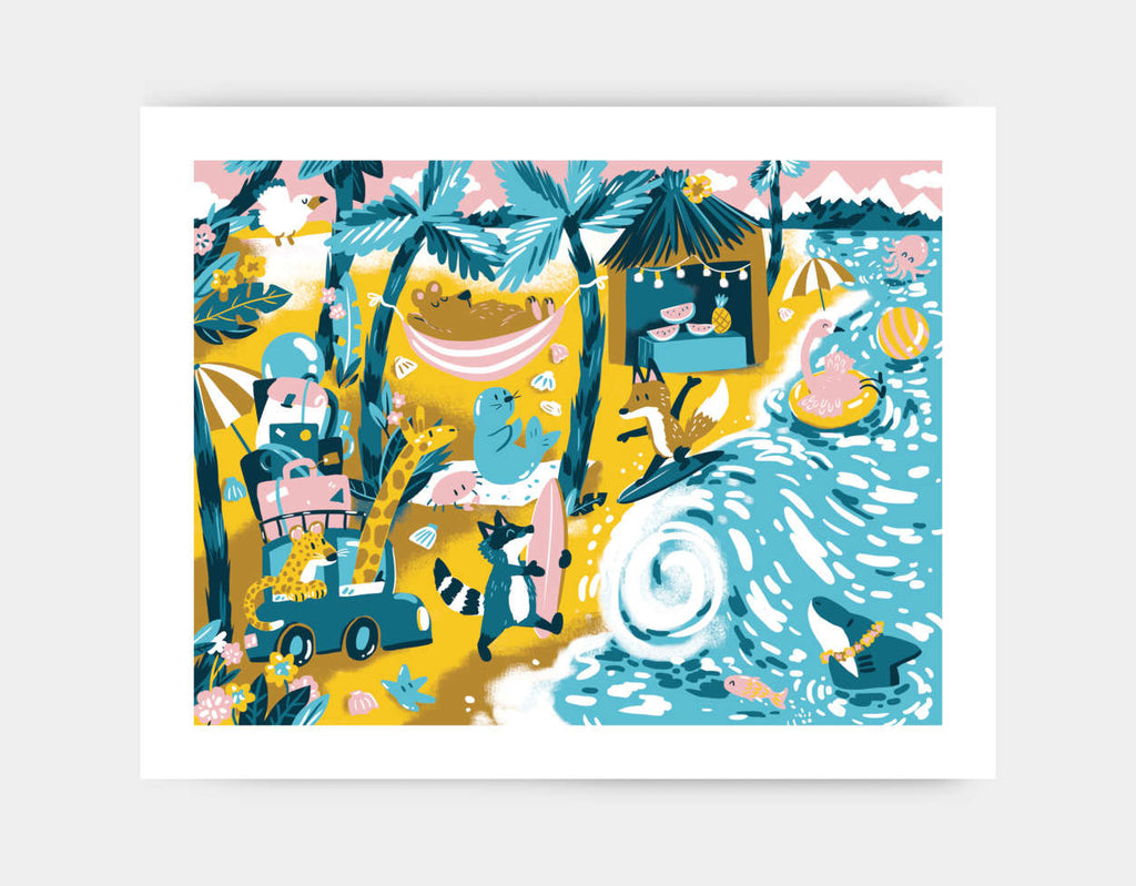 Vacation Joy Art Print by Kelly Breemer - Large
