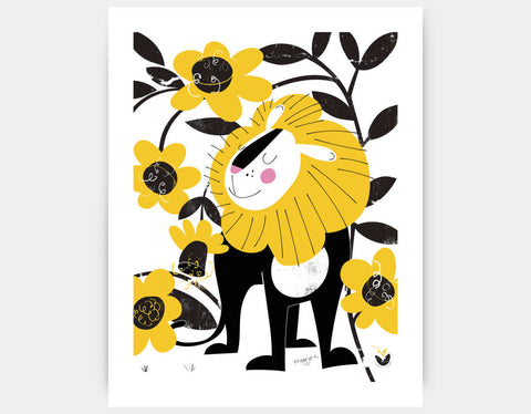 Proud Lion Art Print by Pragya Kothari - Large