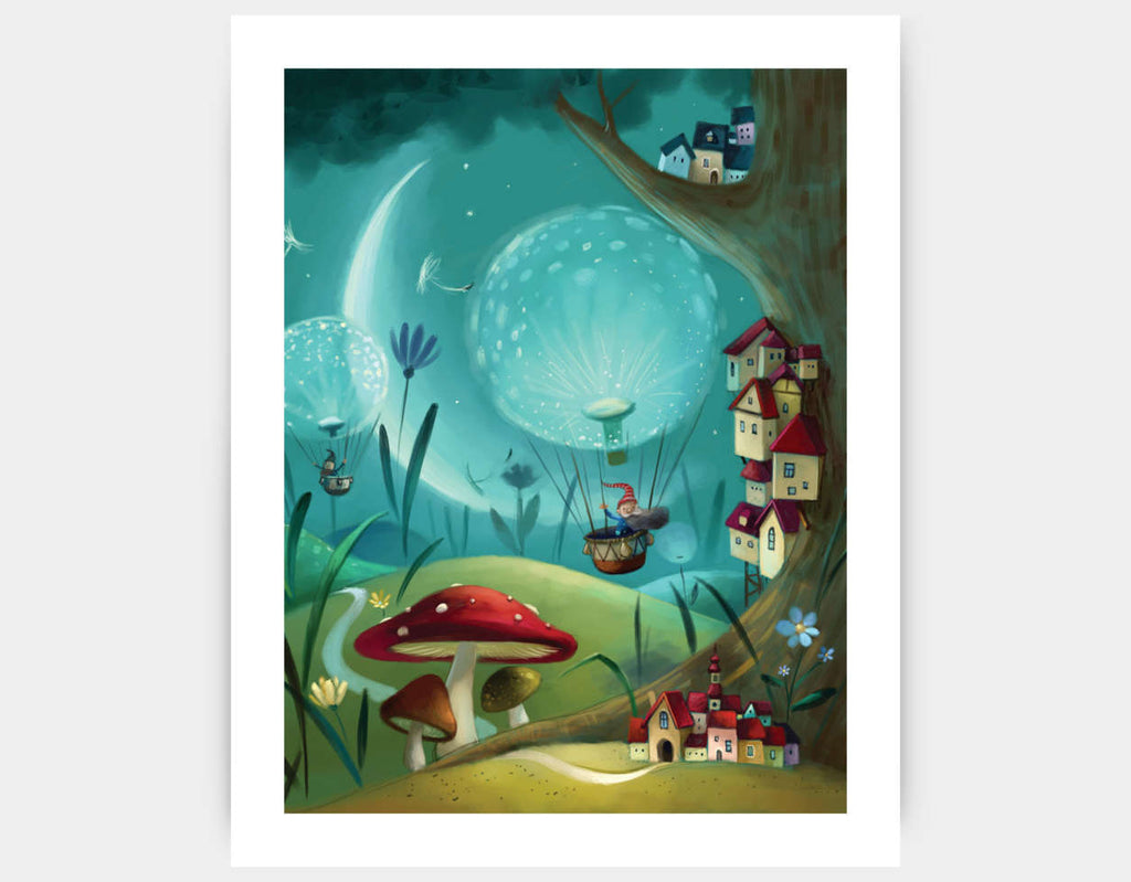 Tree Town Art Print by Marcin Piwowarski - Large