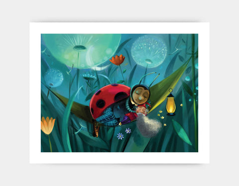 Ladybug Dream Art Print by Marcin Piwowarski - Large