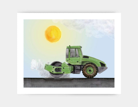 Green Steamroller Art Print by Brett Blumenthal - Large
