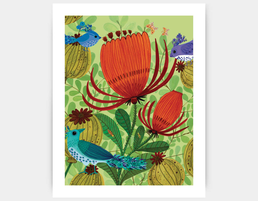 Feathered Friends Art Print by Kay Widdowson - Large