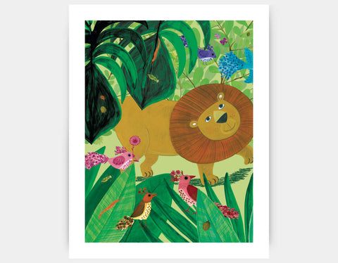 Leafy Path Art Print by Kay Widdowson - Large