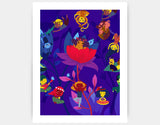 Lotus Party Art Print by Alexandra Petracchi - Large