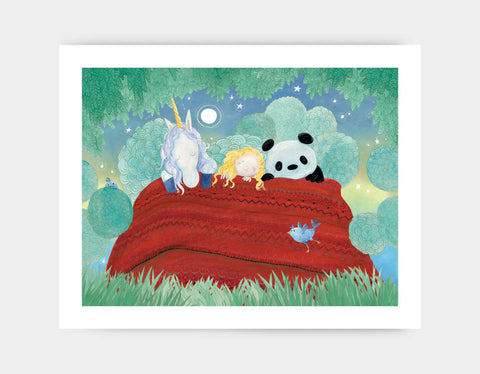 Night Night Snuggles Art Print by Rose Clayton - Large