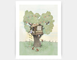 Backyard Treehouse Art Print by Paola Zakimi - Large