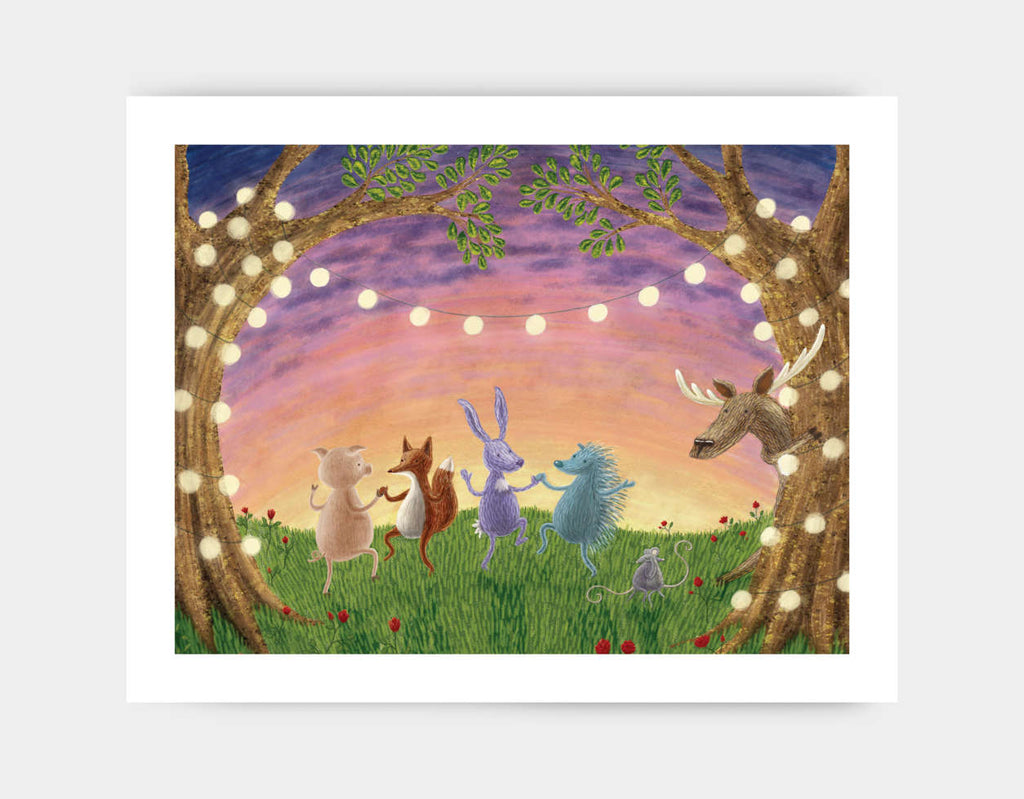 The Animals Ball Art Print by Julia Collard - Large