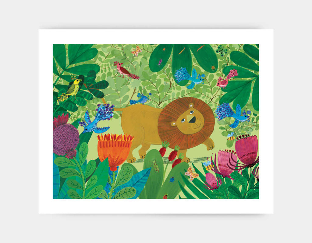 Jungle Stroll Art Print by Kay Widdowson - Large