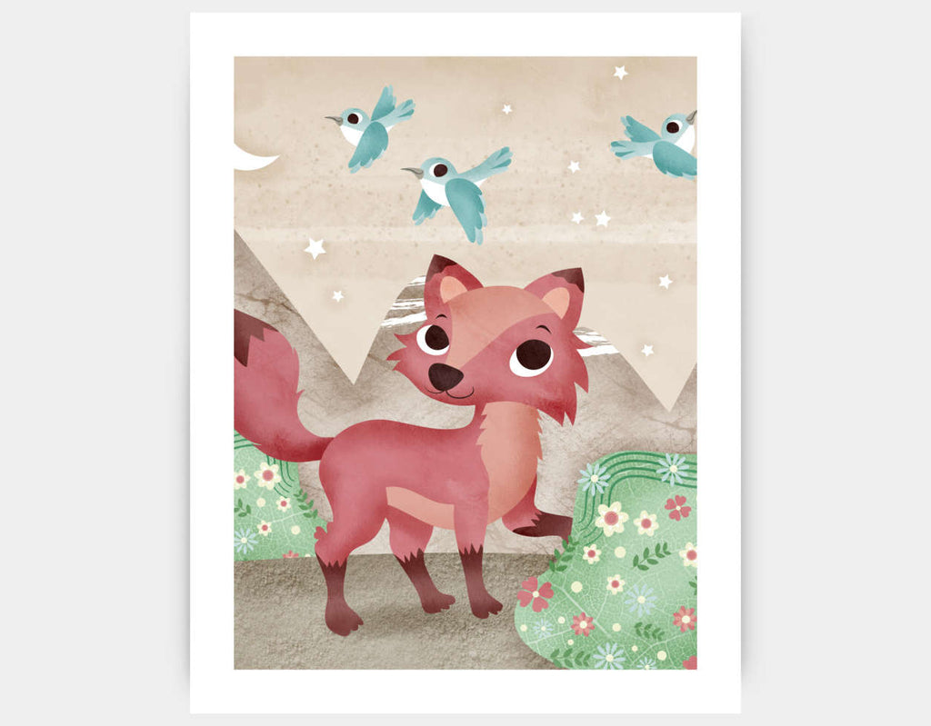 Magical Fox Art Print by Valentina Belloni - Large
