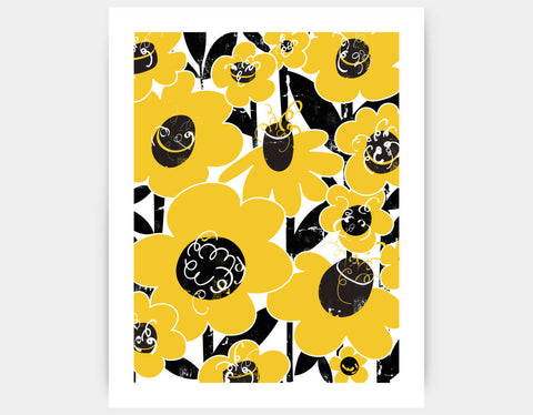 Flower Field Art Print by Pragya Kothari - Large