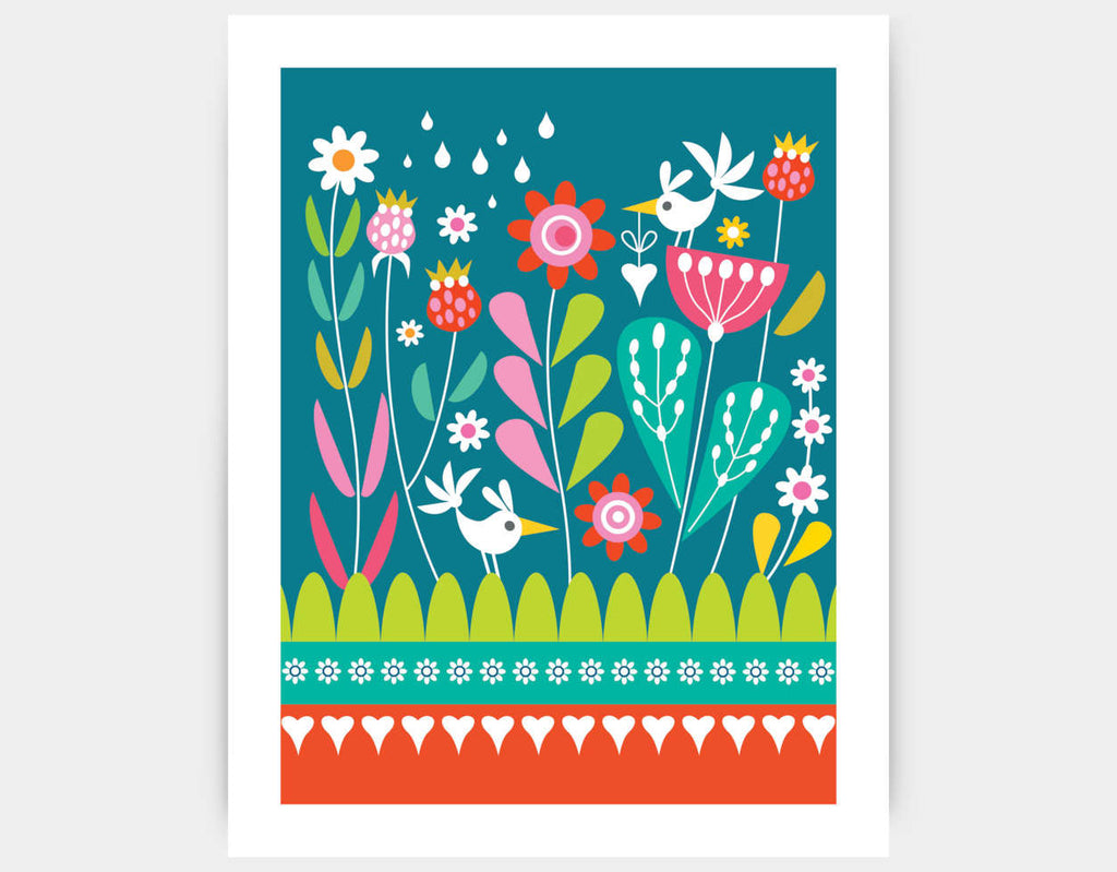 Magic Garden Art Print by Shirley Copperwhite - Large