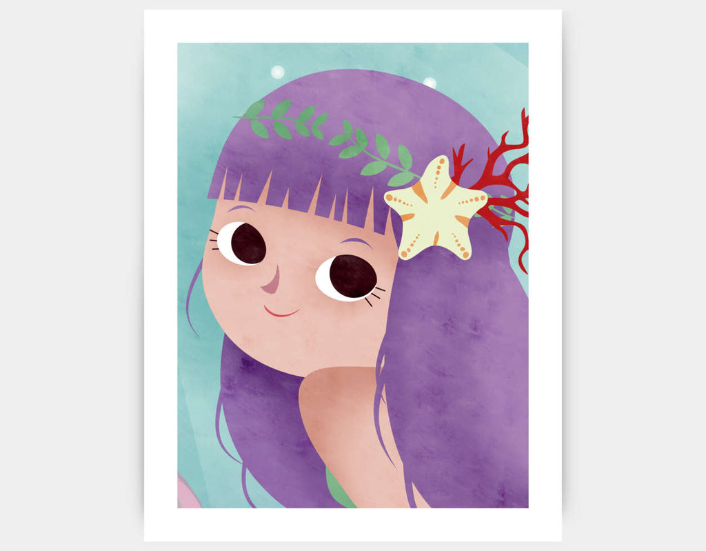 Whimsical Mermaid Art Print by Valentina Belloni - Large