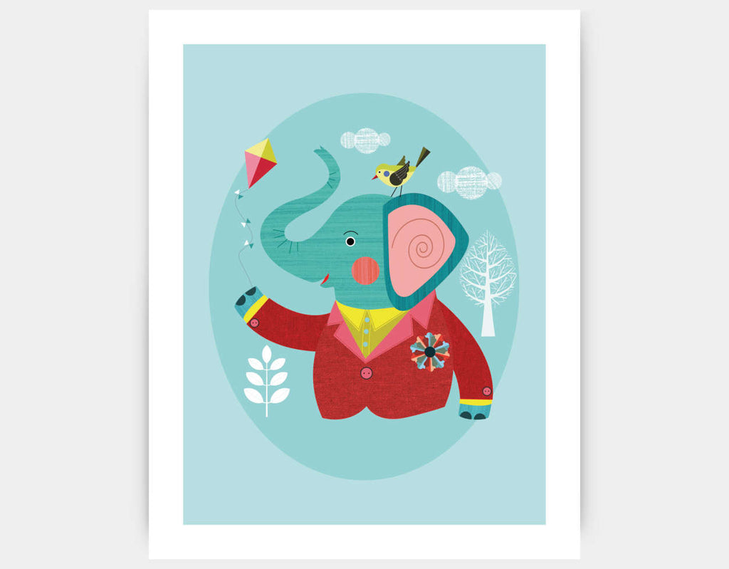 Enzo the Elephant Art Print by Ellen Giggenbach - Large