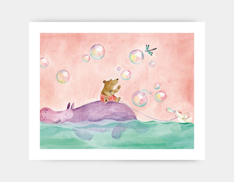Paper Boat Rider Art Print by Anna Shuttlewood - Large