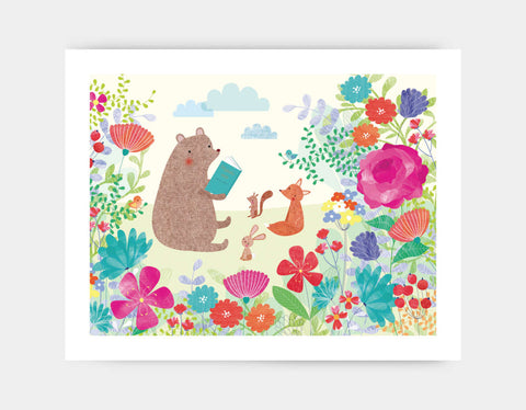 Stories in the Garden Art Print by Emma Talbot - Large