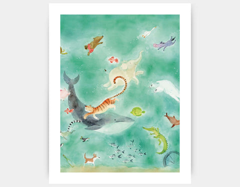 Shimmer and Shine Art Print by Anna Shuttlewood - Large