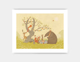 Picnic Under the Tree Art Print by Alexandra Ball - Medium