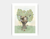 Backyard Treehouse Art Print by Paola Zakimi - Medium