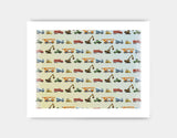 Construction Vehicles Art Print by Brett Blumenthal - Medium