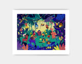 Jungle Celebration Art Print by Alexandra Petracchi - Medium