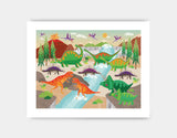 Dinoland Adventure Art Print by Liza Lewis - Medium