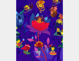 Lotus Party Art Print by Alexandra Petracchi - Design