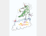 Jumping Dragon Art Print by Julie Parker - Design