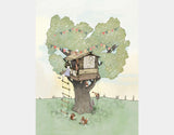 Backyard Treehouse Art Print by Paola Zakimi - Design