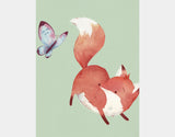 Playful Fox Art Print by Neesha Hudson - Design