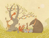 Picnic Under the Tree Art Print by Alexandra Ball - Design
