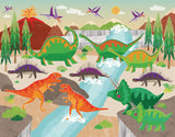 Dinoland Adventure Art Print by Liza Lewis - Design