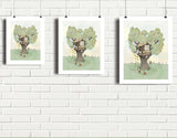 Backyard Treehouse Art Print by Paola Zakimi - Lifestyle