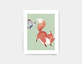 Playful Fox Art Print by Neesha Hudson - Small