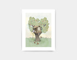 Backyard Treehouse Art Print by Paola Zakimi - Small