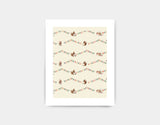 Busy Squirrel Banner Art Print by Paola Zakimi - Small