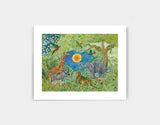 Jungle Gathering Art Print by Jenny Reynish - Small