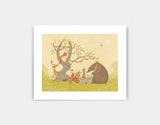 Picnic Under the Tree Art Print by Alexandra Ball - Small
