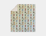 Construction Vehicles Sherpa Blanket by Brett Blumenthal - Cream