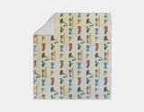 Construction Vehicles Sherpa Blanket by Brett Blumenthal - Grey