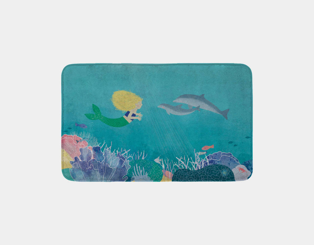 Making Friends Bath Mat by Katie Rewse - Main