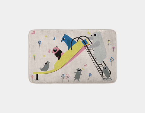Happy Play Slide Bath Mat by Sue Downing - Main