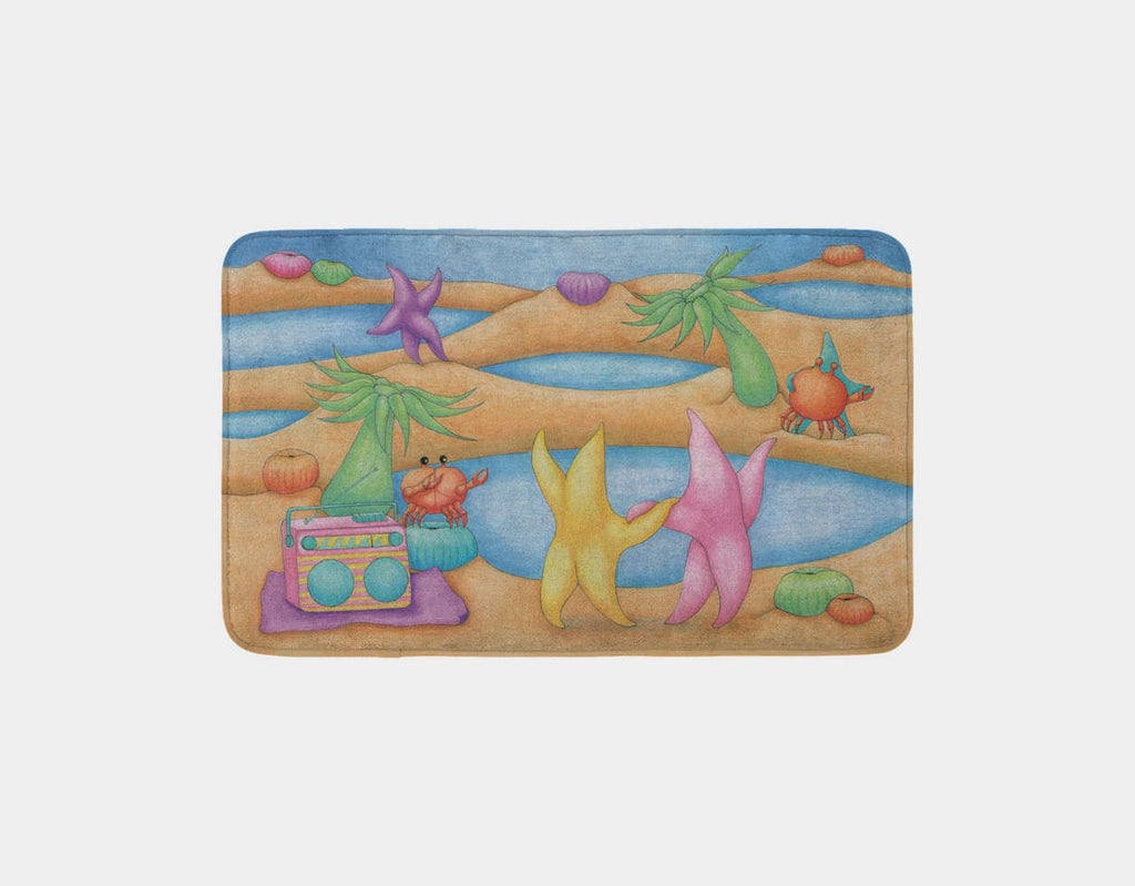 Dancing on the Beach Bath Mat by Maura Stockton Wang - Main