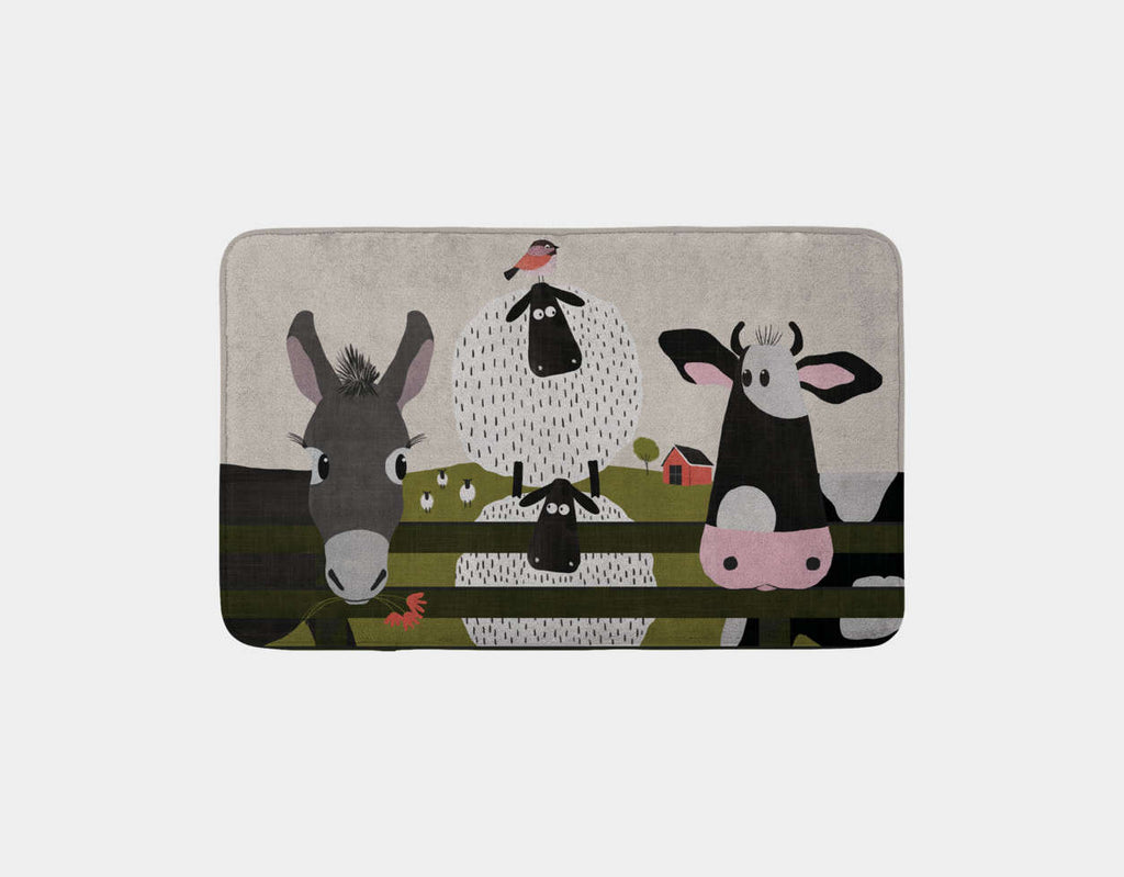 On the Farm Bath Mat by Mel Armstrong - Main