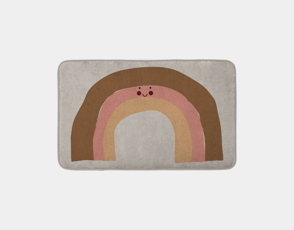 Happy Bunnies and The Rainbow Bath Mat by Sue Downing - Main