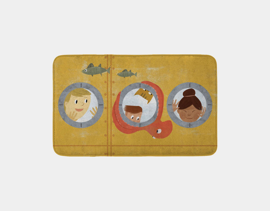 Submarine Adventure Bath Mat by Rebecca Huang - Main
