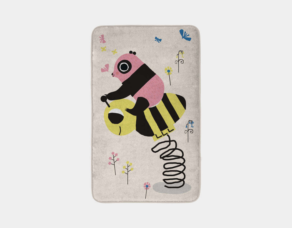 Happy Play Little Pink Panda Bath Mat by Sue Downing - Main