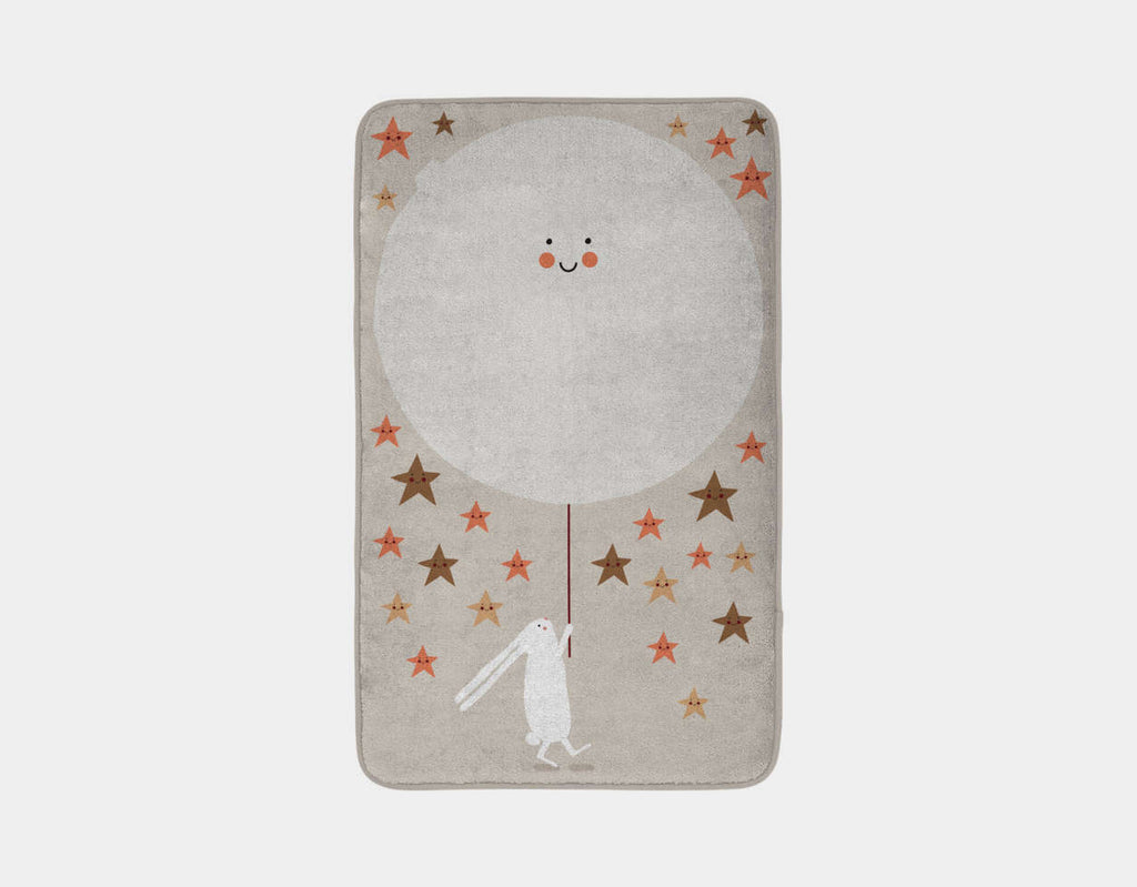 Happy Bunnies and The Stars Bath Mat by Sue Downing - Main