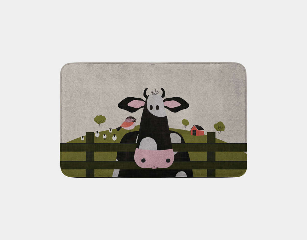 Caley the Cow Bath Mat by Mel Armstrong - Main